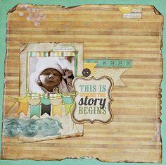 adorable  baby scrapbook layout