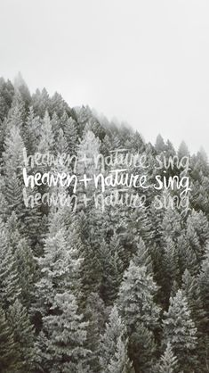 Heaven and nature sing.