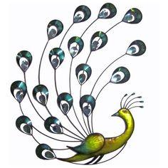 Jewel Peacock Metal Wall Art | Dunelm Mill