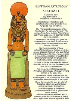 Zodiac Unlimited Egyptian astrology postcard: Sekhmet