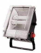 Ervis Mains IP55 Twin Floodlight c/w Photocell Low Energy 2 x TC-DE 26W G24q-3 JCC Lighting JC45024B