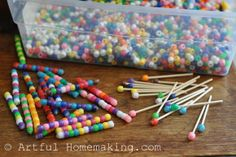 Tons of great ideas for activities. Artful Homemaking: Keeping Little Ones Busy