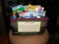 Wedding, Diy, Bathroom basket - Photo by me
