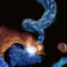 Japanese Astronomers Discover 'Pigtail' Molecular Cloud
