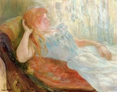 Girl Lying Down - Berthe Morisot - The Athenaeum