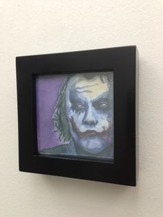 "Joker Printed Wall Art - 4""x4"". $30.00, via Etsy."