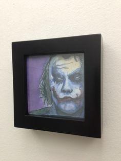 "Joker Printed Wall Art - 4""x4"". $30.00, via Etsy."