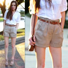 H&M Shirt, Forever 21 Shorts, Zara Bag