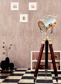 Designer Nautical Spotlight Collectable Searchlight Spot Light Studio Tripod Floor Lamp. Ground Diameter : 16″ Height : 46″ Light Head Size : 6″. Color : Antique Finish & Brown Tripod. Material Used : Aluminum & Wood. Wiring : As per Country Standards ( AU,EU,UK,US ). Bulb/Globes : E 27 ( Standard screw,Bulb not included ).