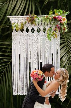Macrame Wedding Backdrop for your Bohemian Wedding Decor. Use this backdrop for your ceremony, behind the cake table or for a photo shoot for your guests. Get yours here from macrame artist Lucy Lanuza. Wedding Backdrop Rentals, Wedding Ceremony Backdrop, Outdoor Ceremony, Ceremony Arch, Wedding Rentals, Reception, Wedding Favor Sayings, Wedding Favors, Wedding Events