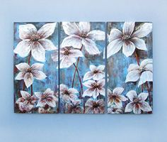 Gefii Art - 100% Hand-painted Abstract Painting the Greenish Lily Flower Wall Decor Landscape Paintings on Canvas 16x32 Inch 3pcs/set Stretched and Framed Ready to Hang gefii http://www.amazon.com/dp/B00Q3278C2/ref=cm_sw_r_pi_dp_GMLEvb1R9CN3F