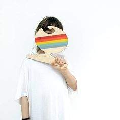 Rainbow Clothes Hanger from small brand Red Hand Gang Rainbow Clothes, Rainbow Outfit, Modern Toys, Wooden Hangers, Fabric Dolls, Wearable Art, Decorative Accessories, Screen Printing, Clothes Hangers