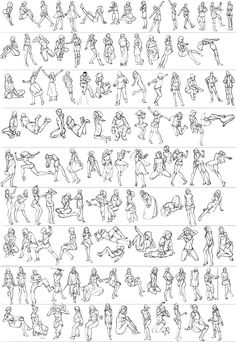 Gesture studies by Guts-N-Effort on deviantART http://betteo.deviantart.com/art/Gesture-studies-283374443