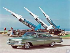 1959 Chevrolet and NIKE missiles 1600×1226 пикс