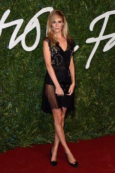 Meow! We love Poppy Delevingne's super short, sheer LBD. // 2014 British Fashion Awards
