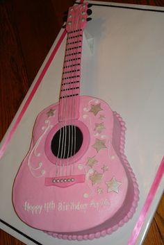 Ayva's Pink Guitar cake | Flickr - Photo Sharing!