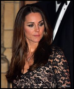 Kate's necklace is white gold and diamonds, part of Mappin & Webb's Fortune Collection