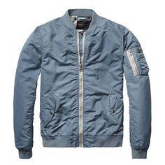 Parisian Blue Summer Bomber Jacket