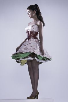 Baek Ji Young poses in a paper dress for her comeback album Baek Ji Young, Paper Dresses, Comebacks, Ballet Skirt, Poses, Album, Skirts, Hair, How To Wear