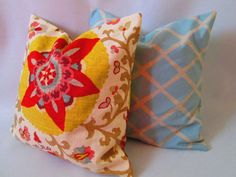 Pair of Designer Decorative throw pillow covers by LivePlush