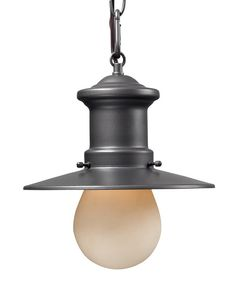 Take a look at this Graphite Rustic Outdoor Pendant on zulily today!