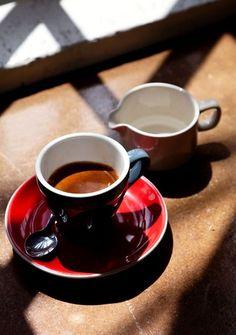 Espresso with cream. What I live for ;)