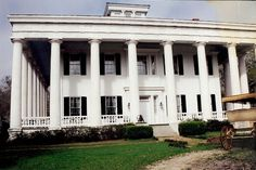 Greenwood Plantation.  The original plantation house was built around 1830 and burned in 1960. The new owners carefully researched from photographs what the original house looked like and built a new Greenwood in 1984. The movies DRANGO (1957), LOUISIANA (1984), and NORTH and SOUTH (1985) were filmed here.