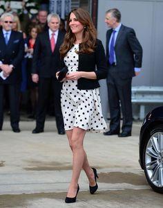 Love Kate Middleton in polka dots