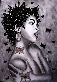 ***Try Hair Trigger Growth Elixir*** ========================= {Grow Lust Worthy… Black Love Art, Black Girl Art, Art Girl, African American Art, African Art, Natural Hair Art, Natural Beauty, Black Art Pictures, Black Artwork