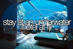 Stay at an underwater hotel at Fiji.