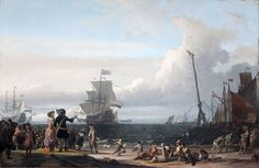 File:Dutch ships in the roadstead of Texel (the 'Gouden Leeuw' of Cornelis Tromp in the center)(Ludolf Backhuysen, 1671).jpg