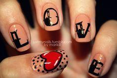 love nail art nail idea