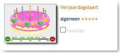 Verjaardagstaart: vier de verjaardag van een kind uit uw groep.
