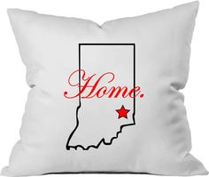 Personalized Throw Pillow. You Choose Any State/City. Made to Order by PinkPigPrinting