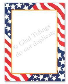 patriotic writing paper template