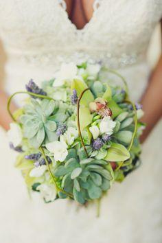 Orchids and Succulents Bridal Bouquet