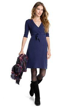 EDC / Gebreide jurk met textuurmix