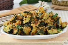 Le zucchine al parmigiano che vi propongo sono un contorno davvero sfizioso ed unico che puo' rappresentare un vero e proprio piatto unico
