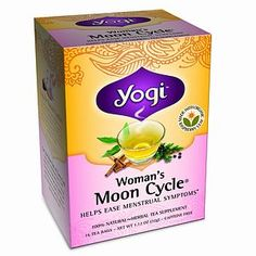 Yogi Woman's Moon Cycle Tea - Relieves PMS symptoms, balances hormones, restores calm and balanced mood. Love this stuff!