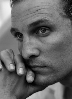 ACTORS IN BLACK AND WHITE.  Matthew McConaughey