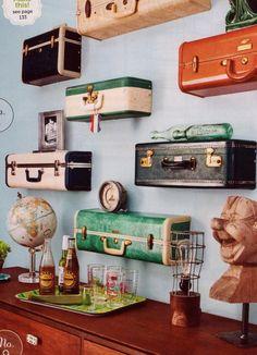 Flea Market Flip Lara Spencer | ... suitcases re-purposed into shelves (Flea Market Style Magazine