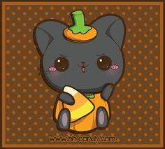 Pumpkin Kitty by ~A-Little-Kitty on deviantART