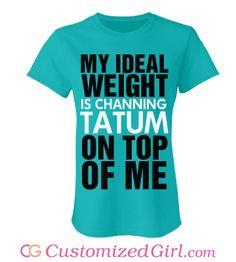 899ea5cf custom tees from Customized Girl #channingtatum Customized Girl, Channing  Tatum, Custom Tees,