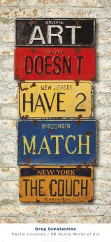 License Plate Art