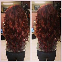 Big curls - Novembrino Novembrino Polizzi Want some big hair extensions! Love Hair, Great Hair, Big Hair, Amazing Hair, Gorgeous Hair, Beautiful, Snooki Red Hair, Big Curls, Hair Color And Cut