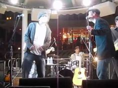"""Chuck Cannon & Shawn Mullins' band performing """"Papa Was a Rollin' Stone"""" on the Pool Deck, Cayamo 2012."""