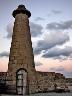 The old lighthouse at Kyrenia West Mole was built in 1907 and has been inactive since 1963 on the island of Cyprus.