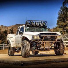 Ranger prerunner Ford Pickup Trucks, Jeep Truck, 4x4 Trucks, Car Ford, Lifted Trucks, Funny Truck Quotes, Ford Ranger Prerunner, Trophy Truck, Sand Rail