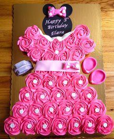 minnie mouse cupcake cake - Google Search