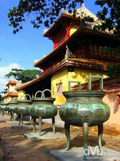 Some of the 9 Dynastic Urns of Hue Citadel.
